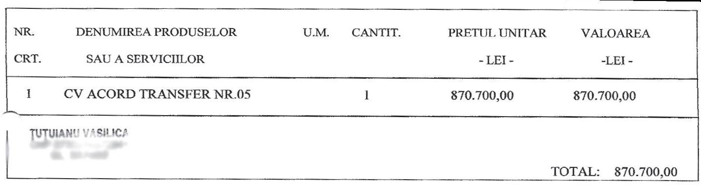 Hârtia de transfer a lui Sârghi