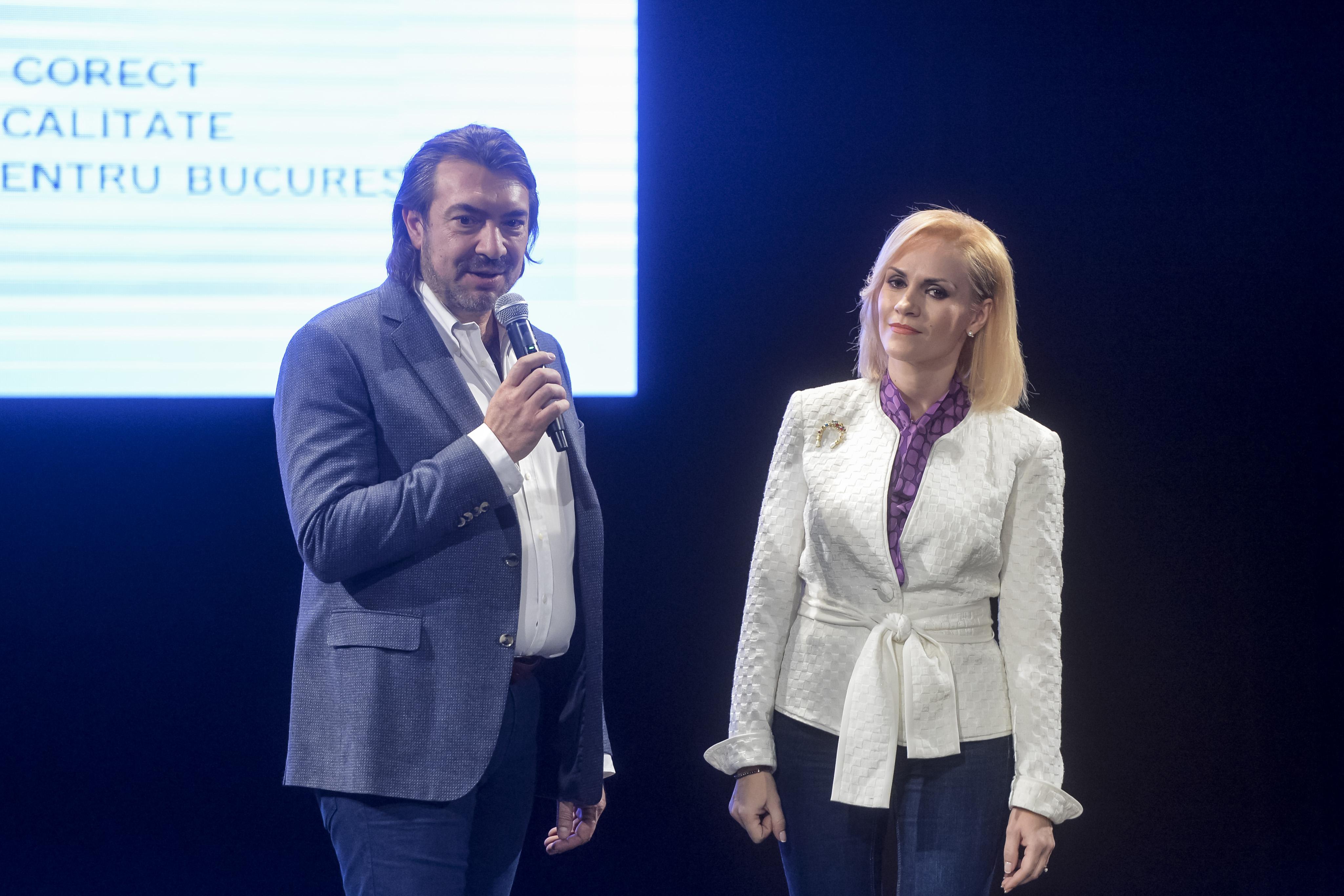 17 noiembrie 2016. Narcis Copcă și Gabriela Firea la evenimentul de lansare a candidaților PSD pentru lista parlamentarilor de București. Foto: MediafaxFoto