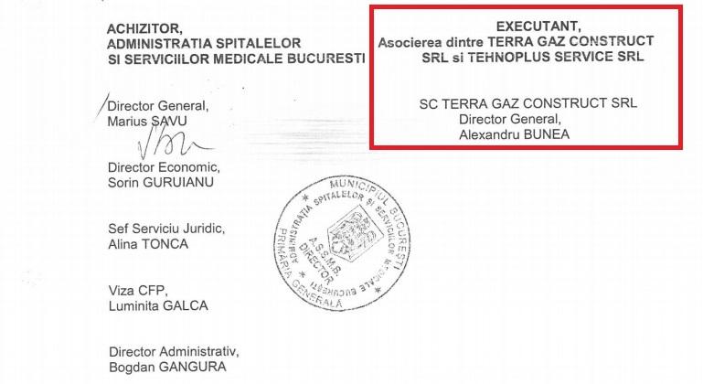 Asocierea dintre Terra Gaz Construl SRL și Tehnoplus Service SRL, reprezentată de Alexandru Bunea
