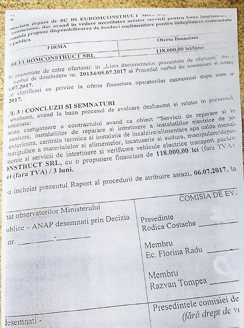 Noul contract cu Bi Euromconstruct, încheiat la începutul acestei luni