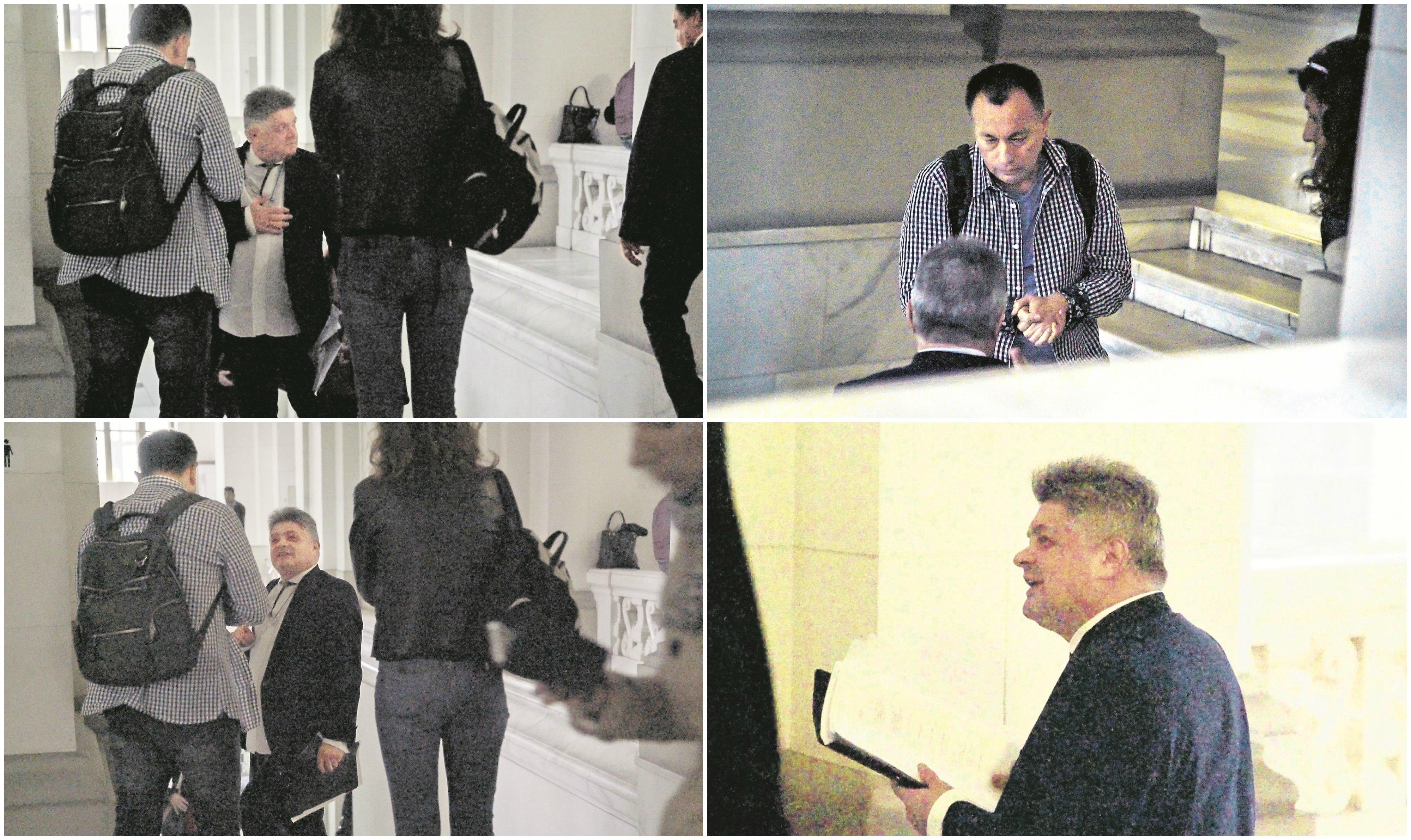Secureanu la întâlnirea cu jurnaliștii Gazetei: în prima fotografie îl salută, cu mâna la inimă, pe Vasile Blaga, aflat și el la Curtea de Apel
