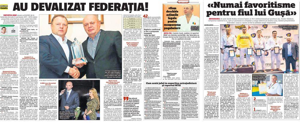 Cele două articole ale Gazetei. Primul e din 16 ianuarie. Al doilea, din 17 ianuarie. Scorneala de la Realitatea TV a apărut pe 18 ianuarie.