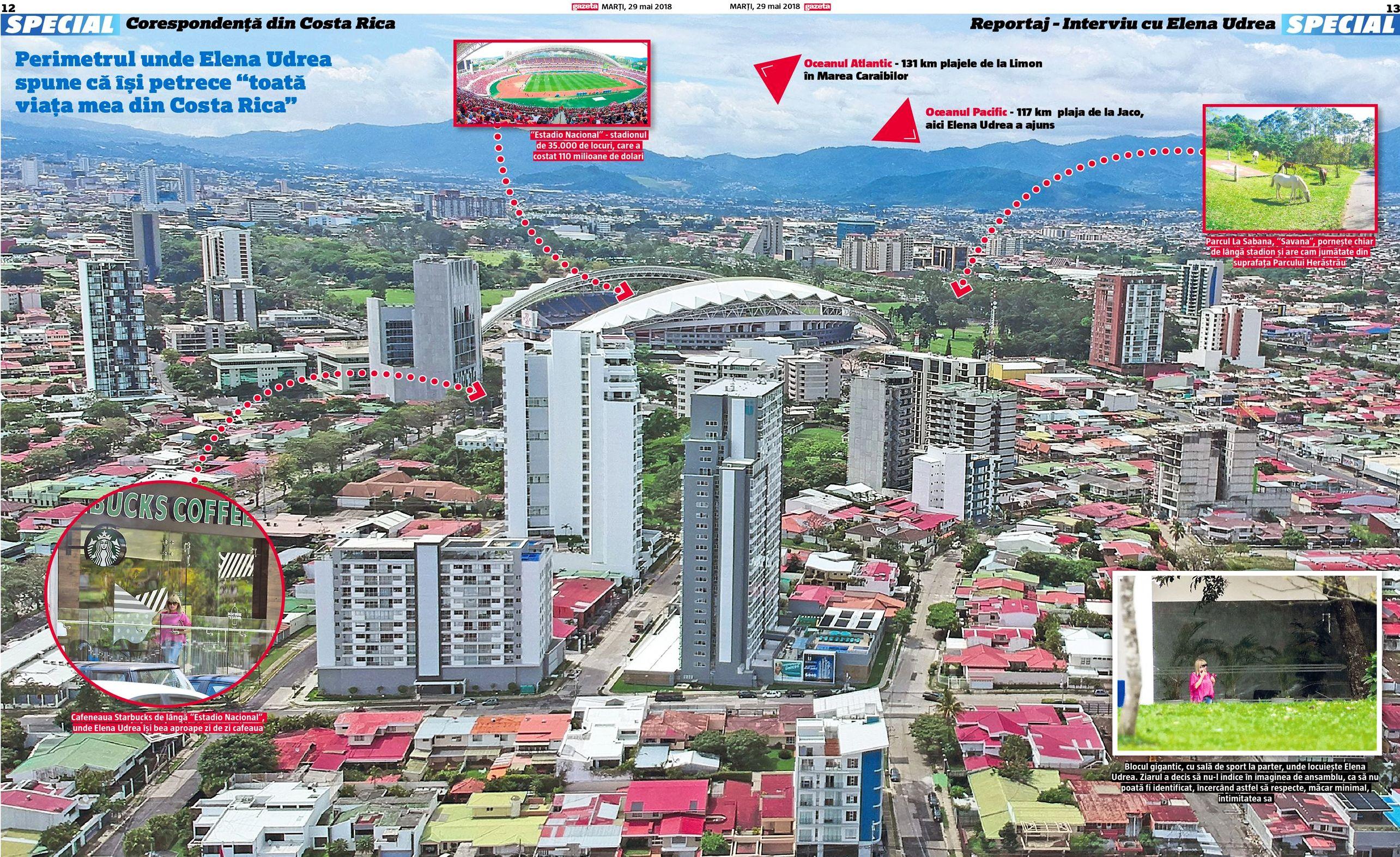 """Perimetrul unde Elena Udrea spune că petrece """"toată viața mea din Costa Rica"""". Click pe imagine pentru zoom"""