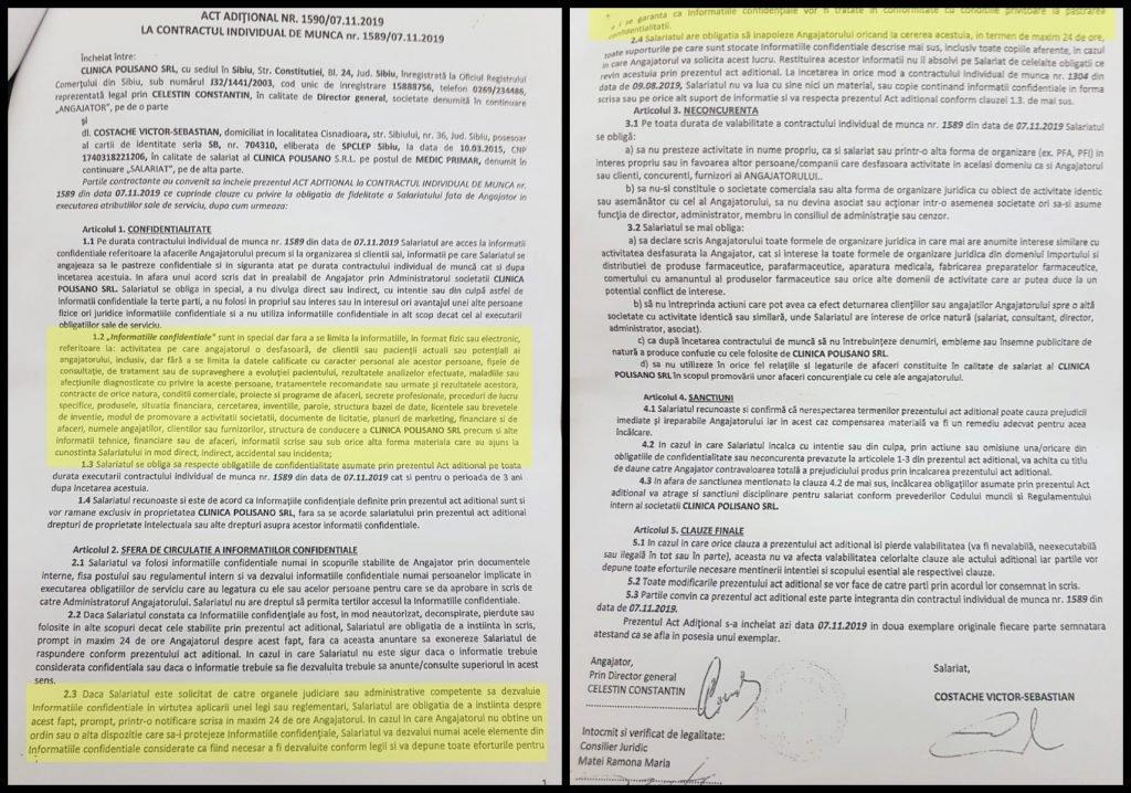Actul aditional cu obligațiile ministrului Victor Costache