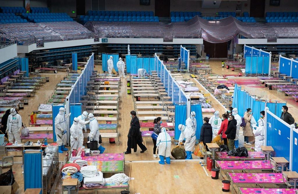 Spital de campanie in Wuhan, China. Foto EPA