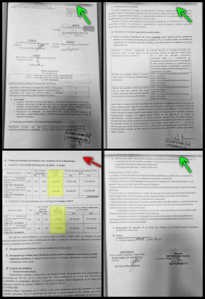 Pagina 3 a referatul de necesitate arată diferit față de celelalte pagini și nu are banda de sus