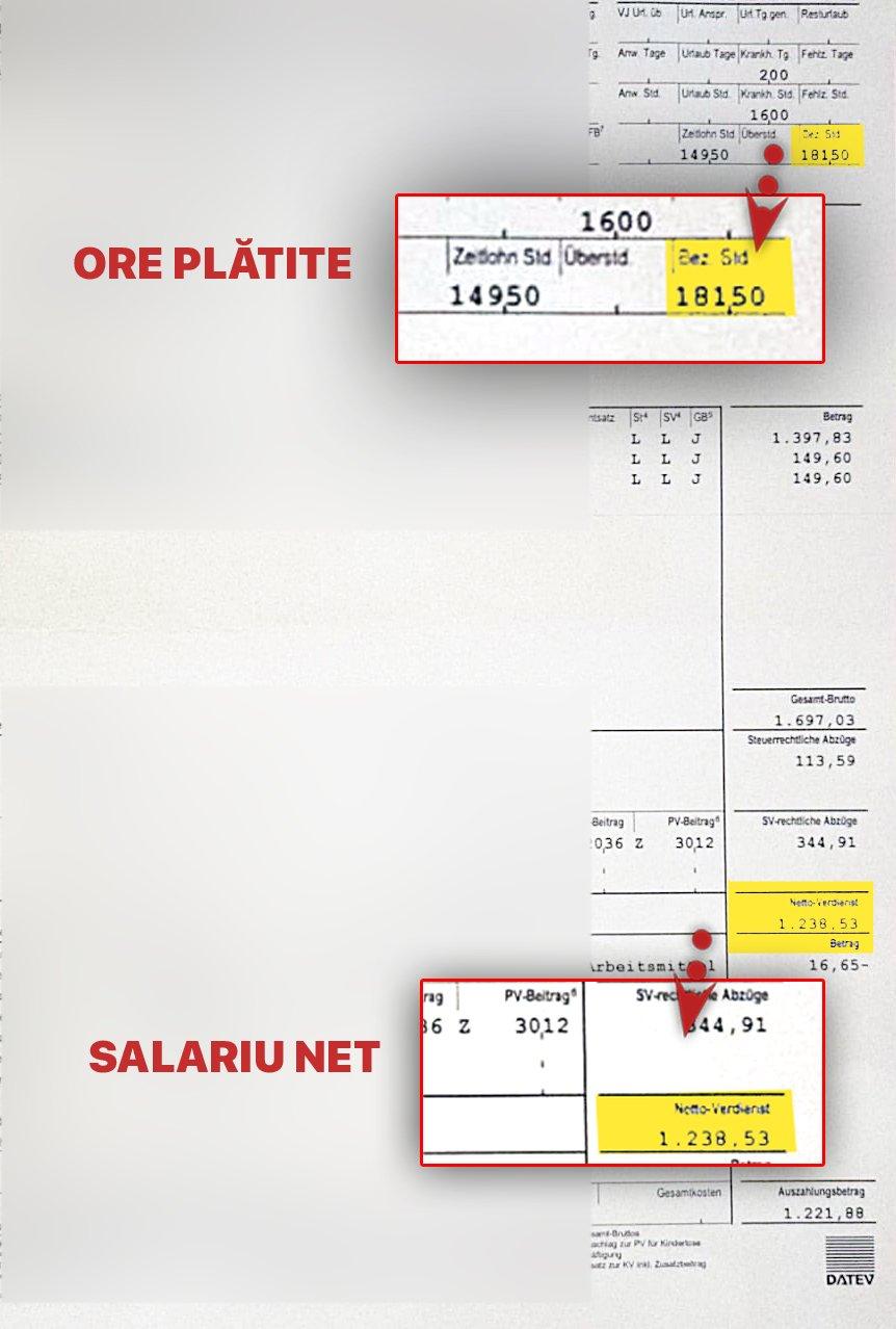"""Ordinul de plată care arată cât a primit pentru cele 181,5 ore lucrate1.500 la 230 de ore"""""""