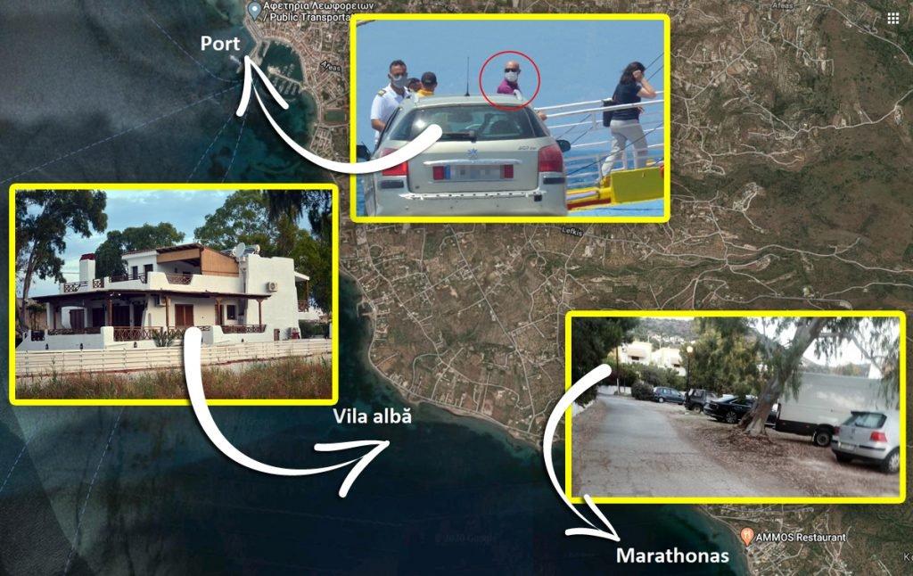 Marian Goleac a fost văzut în portul din Eghina, Grecia, când se îmbarca cu un Audi negru pe feribot. Până să ajungă acolo, bolidul său, alături de o dubă a Rosal, firma de curățenie din Sectorul 4, a făcut ture între o vilă în construcții de lângă stațiune și un hotel din Marathonas deținut de români