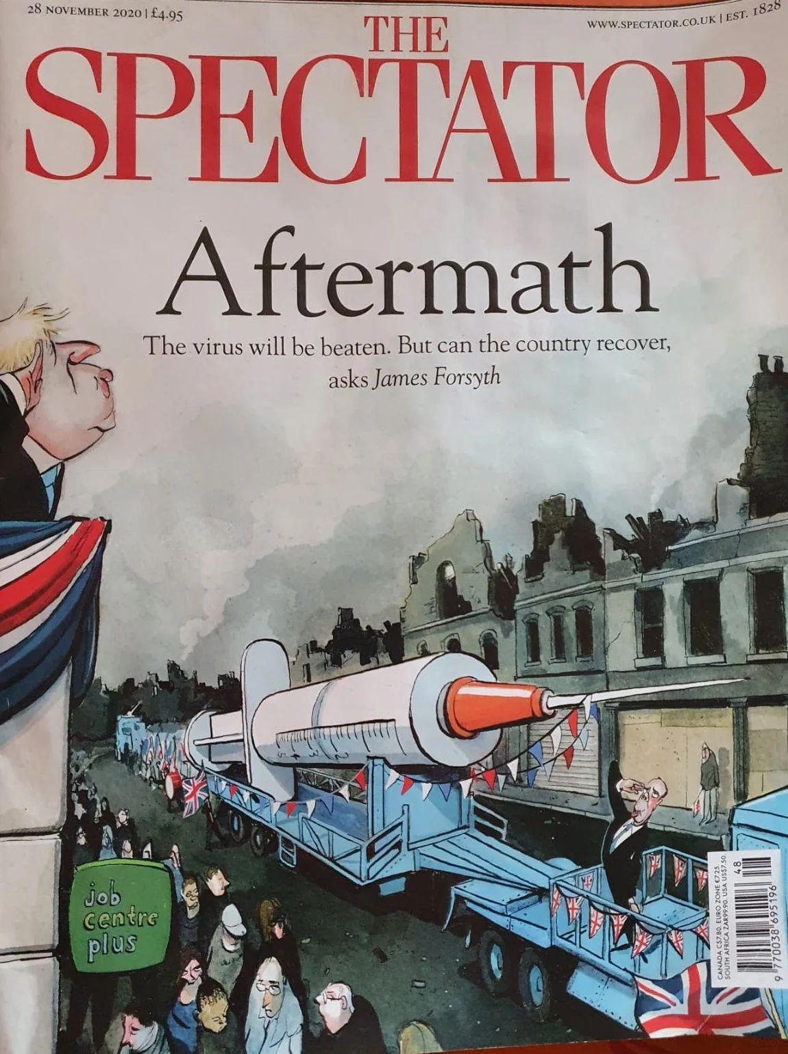 Coperta revistei The Spectator, din luna noiembrie