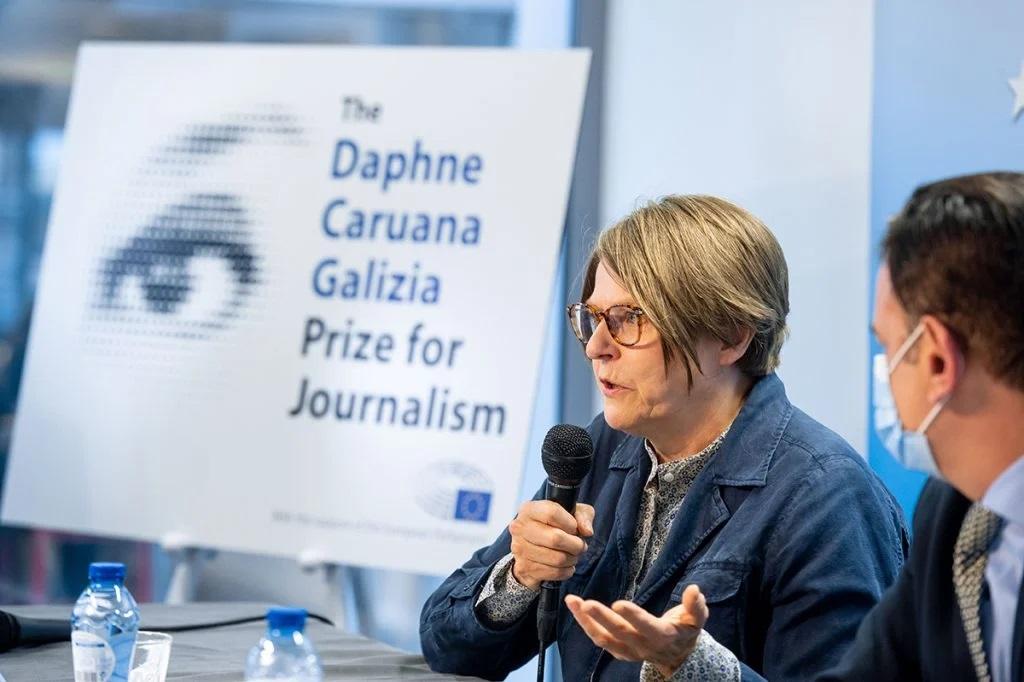 Conferintă de presă pentru decernarea Premiului Daphne Caruana Galizia pentru jurnalism