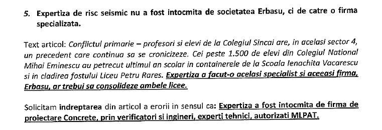 Extras din cererea către instanță a primarului Daniel Băluță